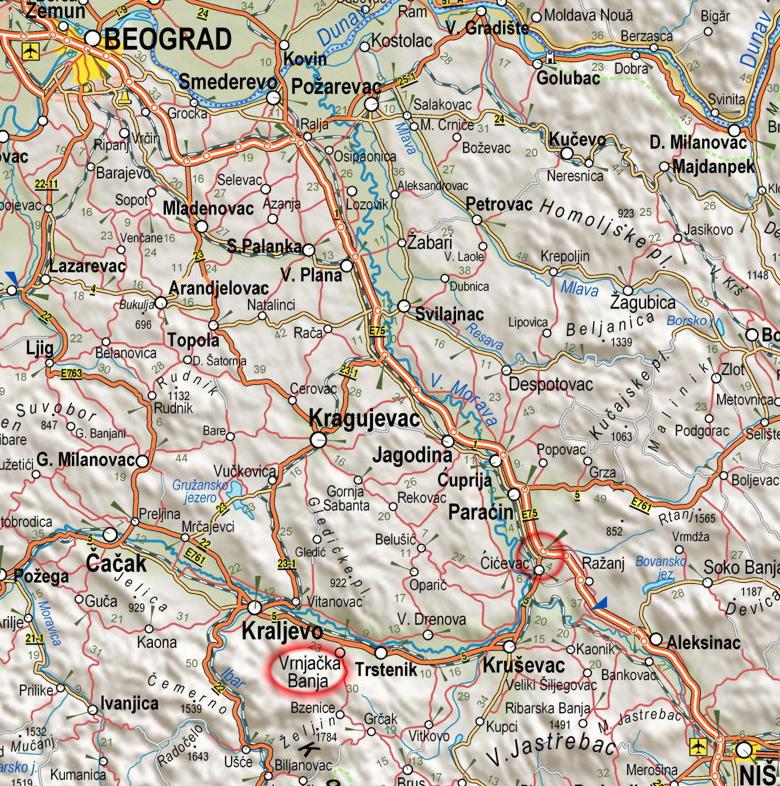 mapa srbije aleksandrovac Plan grada   Vrnjačka Banja mapa srbije aleksandrovac